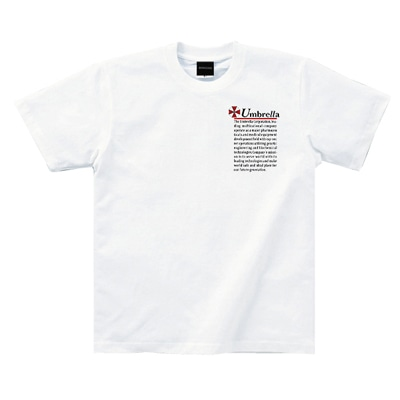 Umbrella CAUTION TシャツWHITEXXL