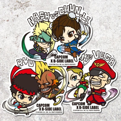 CAPCOM×B-SIDE LABELステッカー STREET FIGHTER L3種セット