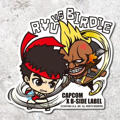CAPCOM×B-SIDE LABELステッカー STREET FIGHTER LRYU/ BIRDIE