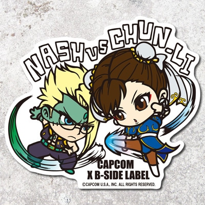 CAPCOM×B-SIDE LABELステッカー STREET FIGHTER LNASH/ CHUN-LI