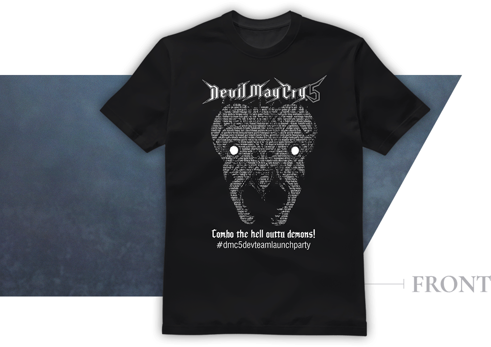 DMC5 Dev Team Launch Party T-shirt