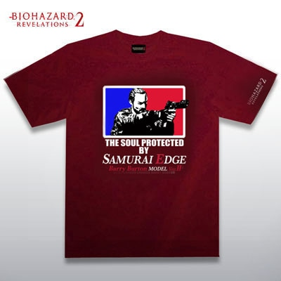 BIOHAZARD BARRY T-Shirts BURGUNDY XL