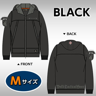 VOLK MOUNTAIN PARKA BIOHAZARD UMBRELLA CORPS BLACK M