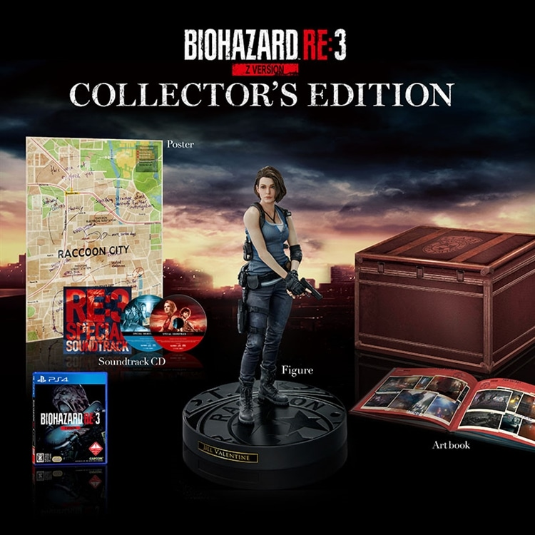 BIOHAZARD RE:3 Z Version COLLECTOR'S EDITION(PS4)/イーカプコン限定特典付